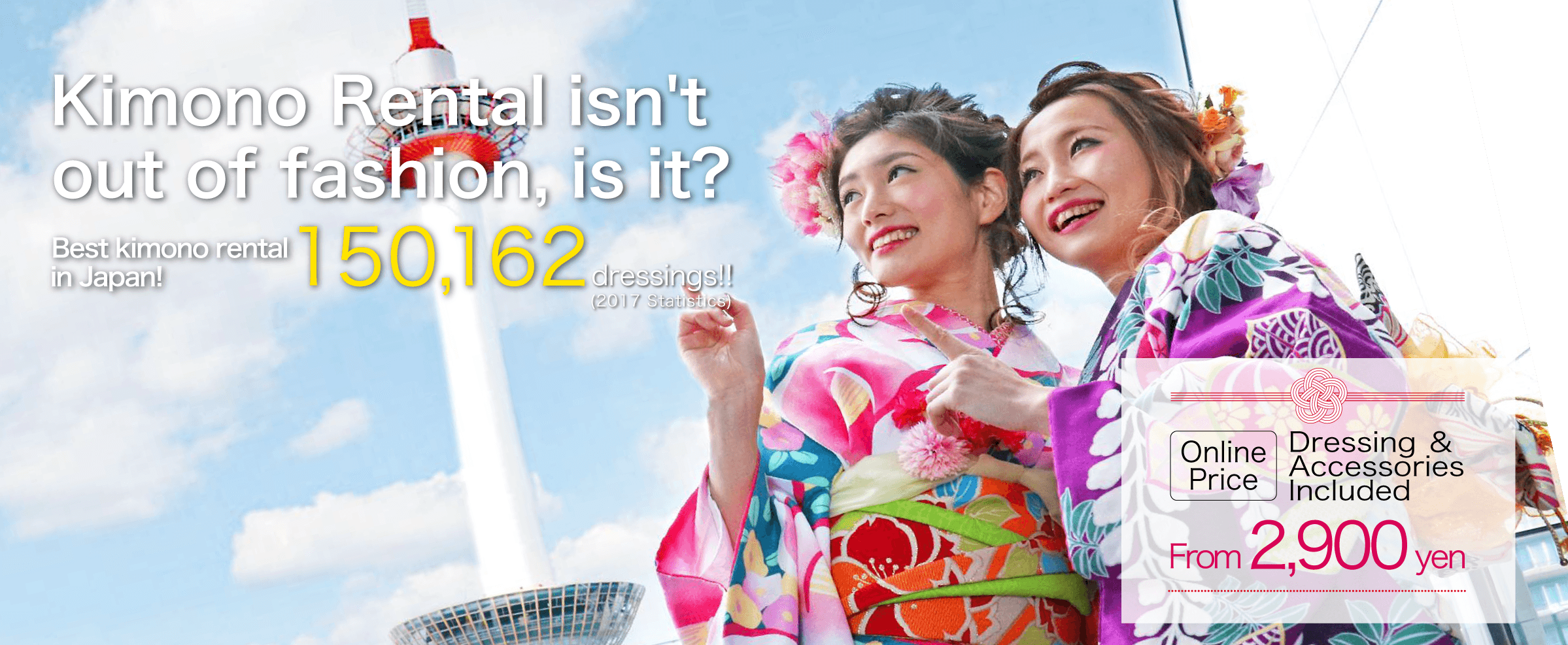 Kimono Rental isn't out of fashion, is it? Best kimono rental in Japan!