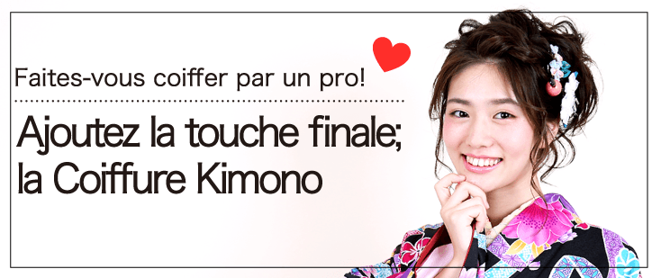 Get your hair arranged by a pro, add the final touch Kimono Hairstyle