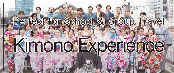 Perfect for school and group travel, kimono experience