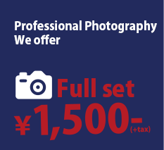 Professional Photo Studio, Full-set 1500yen!